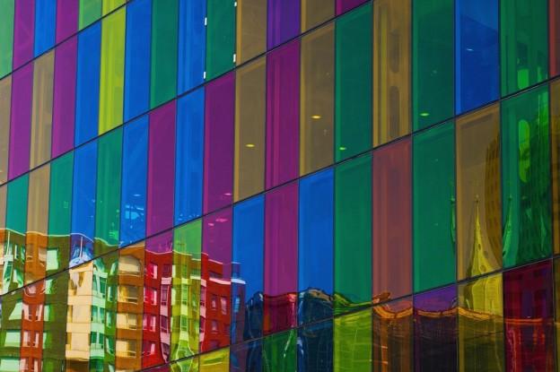 Windows On Palais Des Congres; Montreal Quebec Canada