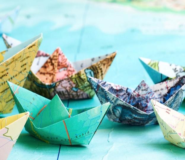 journey - navigate - paper boats