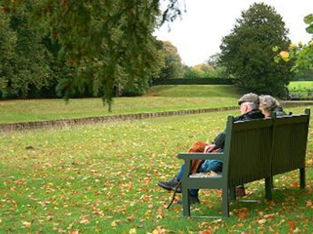 old couple on a bench