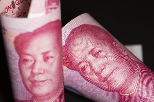 Chinese Yuan As Ascent to 20-Year High Signals China Paring Intervention
